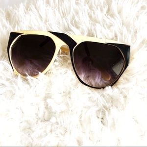 Vintage Pierre Cardin Yellow and Black Sunglasses!